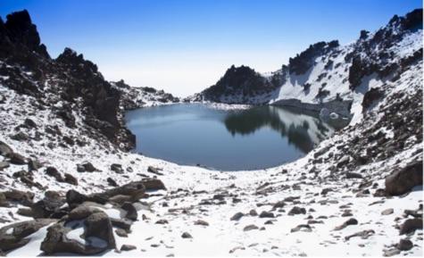 Sabalan Lake is a volcanic lake, 40 meters deep