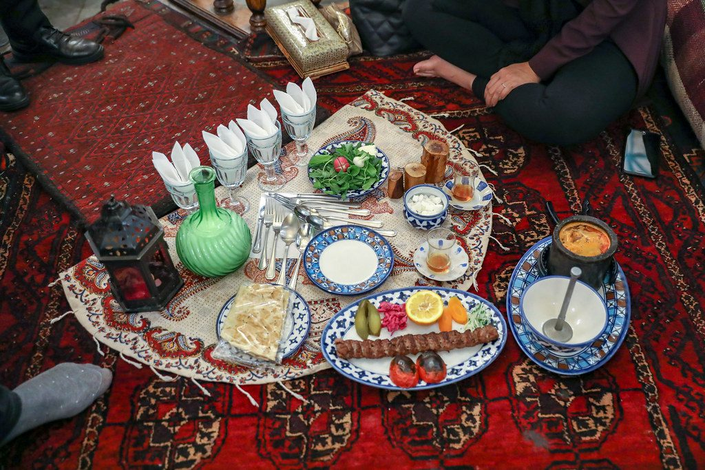 traditional Iranian meal